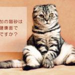 無添加の猫砂は猫の健康面で安心ですか?